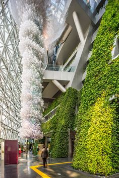 Gallery of Seoul New City Hall / iArc Architects - 5 Green Architecture, Sustainable Architecture, Sustainable Design, Amazing Architecture, Architecture Details, Landscape Architecture, Atrium, Greenhouse Glass Panels, Dome Greenhouse