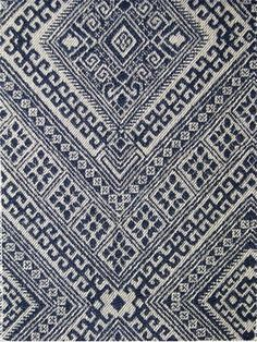 "Santa Maria Prussian Nate Berkus Fabric, Jacquard fabric, durable 20,000 double rubs. 100% cotton. Perfect for upholstery fabric, drapery fabric, pillow covers or top of the bed. Repeat; V 13.75"" x H 6.75"". 54"" wide"
