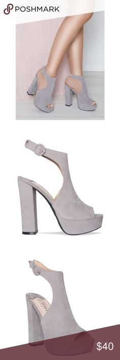 BRAND NEW SIMMI IMOGEN Grey Platform Heels Brand new (still in box) and  never 6a9d25d5ff31