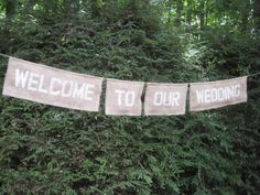 Reserved for dsorensen27 Burlap Wedding Banner Rustic Sign Outdoor Natural Eco Green Pendant Decoration Reception Personalized Custom
