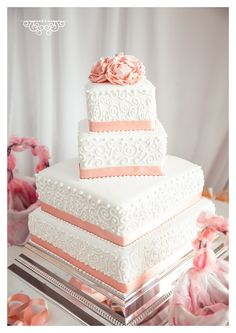 Peony wedding cake idea