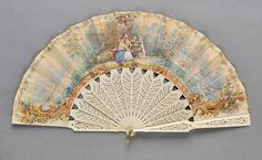 *Painted Fan. A hand-painted fan, French, 1861,