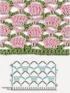 Bees and Appletrees (BLOG): heel mooi haaksteekje - pretty pretty crochetstitch