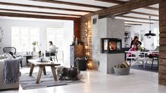 From Scandinavia with love - design & style (A home in Norway. Photo from Ikea Family Live. Home Living Room, Living Spaces, Kitchen Living, Ikea Family, Interior Decorating Tips, Nordic Home, Nordic Chic, Nordic Living, Cozy Living
