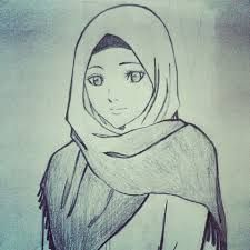 """Find and save images from the """"Muslim girls"""" collection by Fashion and Quotes ♔ on We Heart It, your everyday app to get lost in what you love. Girl Face Drawing, Woman Drawing, Pencil Art Drawings, Art Drawings Sketches, Hijab Drawing, Anime Muslim, Islamic Girl, Cartoon Sketches, Cute Cartoon Wallpapers"""