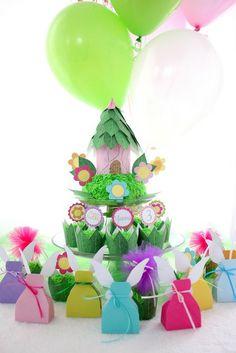 "Fairy boxes and flowers. Favors for a Tinkerbell Fairy Garden Tea Party / Birthday ""Princess Garden Fairy Tea Party"""