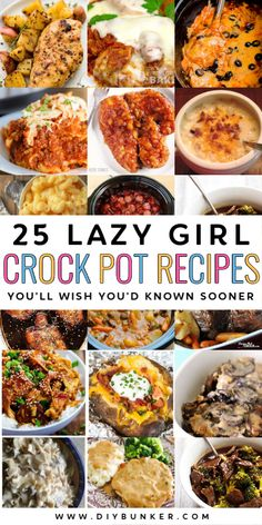 These easy crock pot recipes are the best set and forget meals. Crockpot Dishes, Crock Pot Slow Cooker, Crock Pot Cooking, Slow Cooker Recipes, Crockpot Recipes, Cooking Recipes, Healthy Recipes, One Pot Meals, Easy Meals