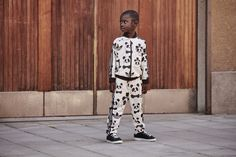 Adidas Jacket x Mini Rodini Panda Windbry, Babies & Kids