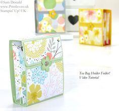 Tea Bag Holder Folder Tutorial Stampin' Up!