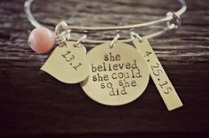 Hey, I found this really awesome Etsy listing at https://www.etsy.com/listing/236828907/running-jewelry-runner-bracelet-half