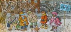 It all goes to school - Pauline Paquin - Art Gallery Iris, Baie-Saint-Paul - Charlevoix