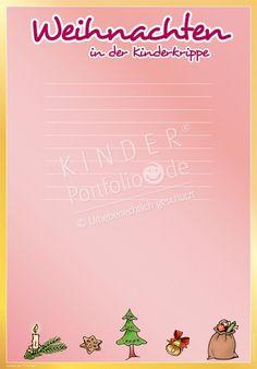 "Kindergarten Portfolio Templates ""Christmas in kindergarten"" - Kindergarten Portfolio, Christmas Templates, Toddler Play, Birthday Invitations, Classroom, Education, Cards, Kindergarten Christmas, Montessori"