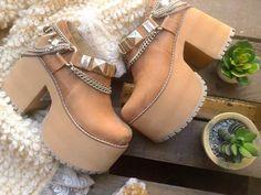 Plataformas folk hippie boho #CultivoDiseño #Shoes