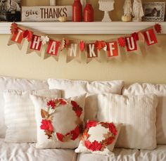 Give your home an amazing, budget-friendly DIY makeover for Turkey Day with these 3-in-1Thanksgiving Decorating Ideas. This tutorial shows you how to make a pillow, banner, and wooden sign that will create a festive atmosphere for Thanksgiving.