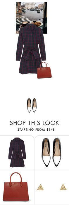 """Outfit of the Day"" by wizmurphy ❤ liked on Polyvore featuring Maje, Whistles, Prada, Jennifer Meyer Jewelry, ootd and longsleevedress"