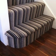 Black and white striped stair carpet - Yelp
