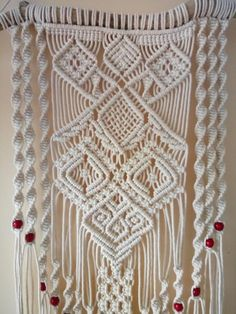 This macrame wall hanging gives individuality, comfort and charm to your dwelling. You can use this macrame wall hanging in any convenient location in your home. And this bohemian decor will bring coziness, love and happiness to your home and to your life Macrame Wall Hanging Patterns, Macrame Art, Macrame Design, Macrame Projects, Macrame Patterns, Bohemian Wall Tapestry, Tapestry Fabric, Tapestry Weaving, Tapestry Wall Hanging
