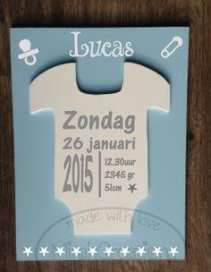 3d geboortebord met romper te koop bij www.mirahcreations.nl
