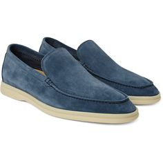 b921ca0db1b Loro Piana Summer Walk Suede Loafers ( 750) ❤ liked on Polyvore featuring  men s fashion