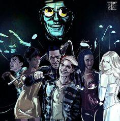 Gotham: Hugo Strange, Oswald Cobelpot, Fish, Theo Galavan, Tabitha, Barbara and JEROME VALESKA MISSES VAN DAMN Amazing fanart check her(or his idk .-.) tumblr -> @missesvandamn