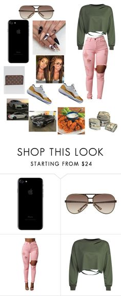 """Wildin Out Spring Break"" by finessedoll ❤ liked on Polyvore featuring Michael Kors, WithChic and Louis Vuitton"