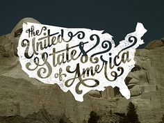 """The United States of America"" over Mt. Rushmore. #Type #Design #Creativity"