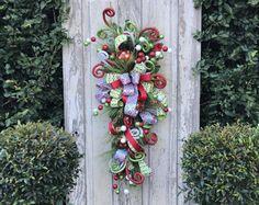 Christmas Swag for Door, Christmas swag, Christmas swag and garland, Christmas Swag Wreath, Christmas Swags, Christmas Door swag