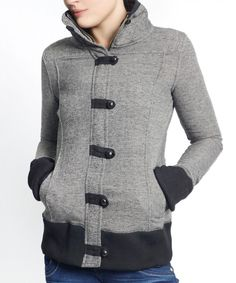 Look at this Gray Melange Toggle Funnel Collar Coat on #zulily today!