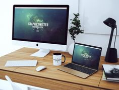 Simple Workspace Mockup PSD