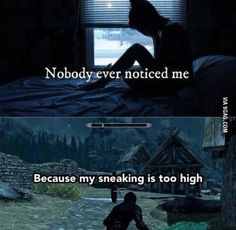 Sneaking level is too high