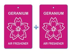 Geranium Floral Air Freshener Paper Hanging Bar (Pack of Car-Home- Office Natural Pocket Perfume Mops And Brooms, Car Perfume, Cleaning Items, Hand Gloves, Hanging Bar, Air Freshener, Geraniums, Tree Branches, Clean House