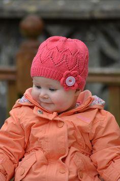 Ravelry: Coralline Flower Hat pattern by Tatsiana Matsiuk Baby Hats Knitting, Knitting Socks, Knitted Hats, Knitting Projects, Knitting Patterns, Crochet Patterns, Baby Girl Winter Hats, Knit Crochet, Crochet Hats