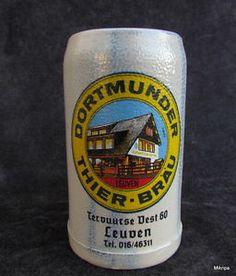 alte BIERKRUG Krug Dortmunder Thier-Bräu 1 Liter