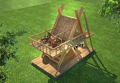 glamping mod perfect for nature camping resort model max obj skp 4 Camping Resort, Bamboo House Design, Tiny House Design, A Frame Cabin, A Frame House, Glamping, Triangle House, Bamboo Architecture, Tiny House Cabin