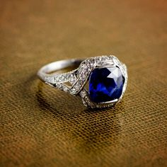 Estate Diamond Jewelry - Antique and Vintage Engagement Rings Rare Antique Sapphire Engagement Ring. Sold by Estate Diamond Jewelry Sapphire Jewelry, Sapphire Earrings, Blue Sapphire Rings, Kashmir Sapphire, Diamond Jewelry, Gemstone Jewelry, Gold Jewelry, Pink Sapphire, Ruby Rings