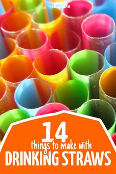 14 of the BEST and most unique things to make with straws - these straw crafts use both paper straws and plastic, and include kids crafts, adult DIY, and unique ideas for teens too. Arts And Crafts For Teens, Arts And Crafts Supplies, Diy Crafts For Kids, Teen Crafts, Dyi Crafts, Plastic Straw Crafts, Diy Straw Crafts, Diy Crafts With Straws, Plastic Art