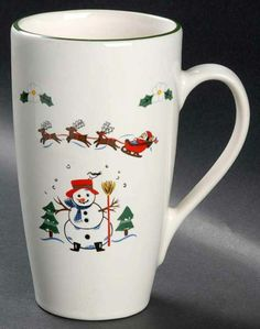 Pfaltzgraff SNOW VILLAGE Latte Mug 8272120