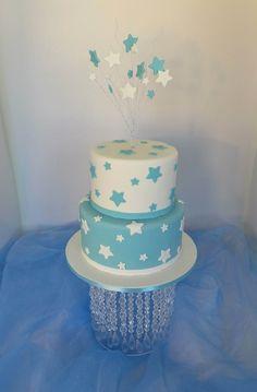 https://flic.kr/p/wPb3Hj | Two tier star themed baby-shower cake