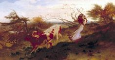 by George Mason 'Wind on the Wold', 1863    Mason was Born into the Famous Masons Pottery Family