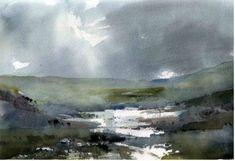 "Saatchi Art Artist Chris Robinson; , ""Exmoor, Devon"" #art"