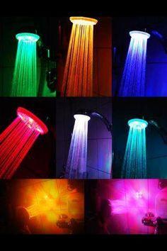 sprinkler cleansing filter sprayer colors changing led shower head