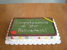 Teacher's Retirement Cake