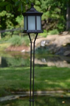 Solar Lantern Frosted Glass Tiki Torch   Solar Pole Lantern Frosted Glass creates a safe and clean candlelight illumination that requires no wiring.