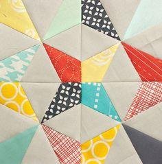 Paper Pieced Kaleidoscope (w/ tut) by Pitter Putter Stitch, via Flickr