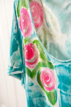 Kauai Hawaii Hand Painted Cotton Play Dress  by PetrinaBlakely, $60.00