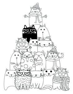 drawing to print pyramid cat coloring - Les Colos de kiki - - dessin à imprimer pyramide chat coloriage drawing to print pyramid cat coloring Cat Coloring Page, Coloring Book Pages, Cat Colors, Cat Crafts, Cat Drawing, Digi Stamps, Doodle Art, Cat Art, Embroidery Patterns