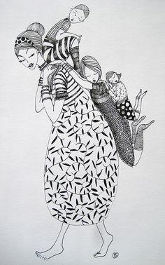 Thomas merton, art drawings, zentangles, graffiti artwork, mother and child Art And Illustration, Illustrations, Art Magique, Graffiti Artwork, Mother And Child, Indian Art, Doodle Art, Painting & Drawing, Zentangle