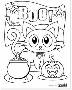 Pumpkin Coloring Pages, Monster Coloring Pages, Fall Coloring Pages, Cat Coloring Page, Coloring Pages To Print, Adult Coloring Pages, Coloring Books, Coloring Worksheets, Free Coloring