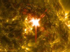 Puissante éruption solaire de classe X1, le 29 mars 2014