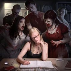 The softness of the skin looks awesome. The lines look great and pretty! Everything look eerily calm. The zombies also!